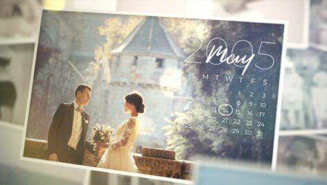 پروژه افتر افکت تقویم خاطرات با موزیک Sweet Memories Calendar Slideshow