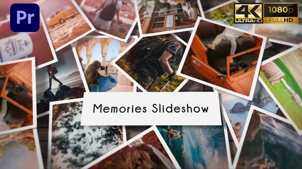 پروژه آماده پریمیر اسلایدشو 2021 با موزیک افکت 3 بعدی Memories Slideshow Photo Mogrt