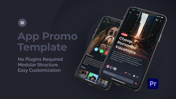 پروژه پریمیر حرفه ای با موزیک تبلیغات برنامه موبایل Mobile App Promo for Premiere Pro