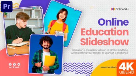پروژه پریمیر حرفه ای رزولوشن 4K تبلیغات آموزش آنلاین Online Education Slideshow