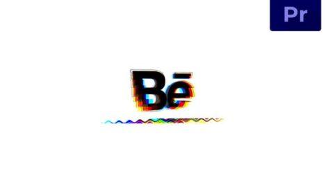 پروژه پریمیر لوگو رزولوشن 4K با موزیک افکت نویز دیجیتال Glitch Logo