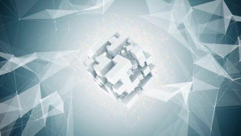 پروژه پریمیر 2021 حرفه ای لوگو افکت مکعب با موزیک Abstract Cube Logo