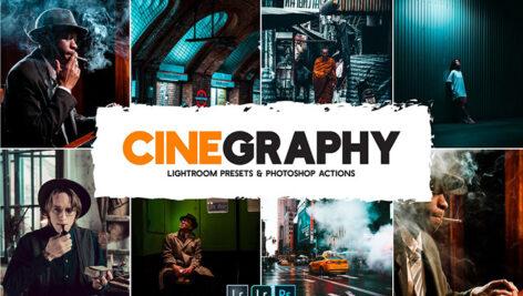 100 پریست لایت روم سینمایی 2021 و کمرا راو و اکشن فتوشاپ Cinegraphy Presets Actions
