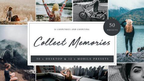 105 پریست لایت روم حرفه ای 2021 تم خاطرات Collect Memories Lightroom Presets