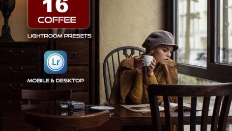 16 پریست لایت روم حرفه ای تم رنگی قهوه ای Coffee Lightroom Presets