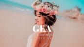20 پریست لایت روم رنگی حرفه ای پرتره Gea Lightroom Presets