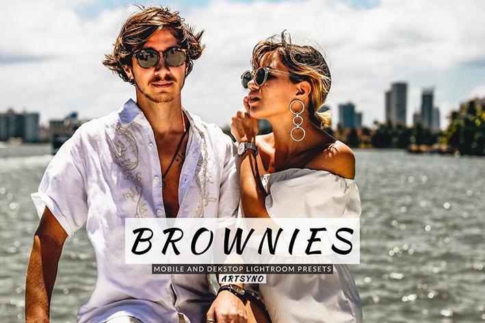 20 پریست لایت روم رنگی حرفه ای Brownies Lightroom Presets