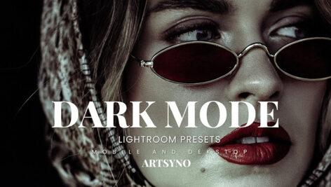 20 پریست لایت روم رنگی حرفه ای Dark Mode Lightroom Presets