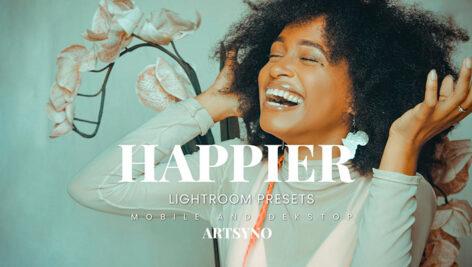 20 پریست لایت روم رنگی حرفه ای Happier Lightroom Presets