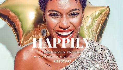 20 پریست لایت روم رنگی حرفه ای Happily Lightroom Presets