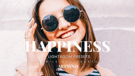 20 پریست لایت روم رنگی حرفه ای Happiness Lightroom Presets