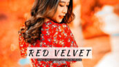 20 پریست لایت روم رنگی حرفه ای Red Velvet Lightroom Presets