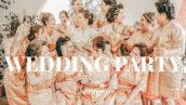 20 پریست لایت روم عروسی حرفه ای Wedding Party Lightroom Presets