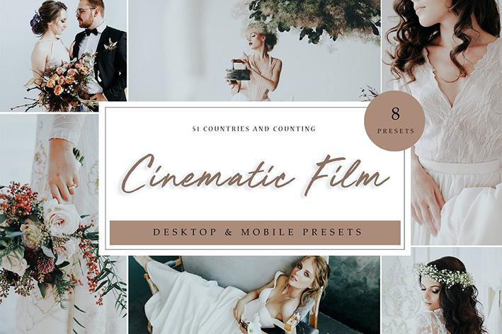 24 پریست لایت روم عروسی تم سینمایی Lightroom Presets Cinematic Film