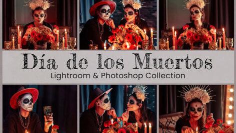 25 پریست لایت روم و اکشن فتوشاپ جشن هالووین Día de Los Muertos Lightroom PS LUTs