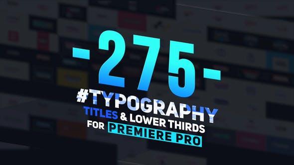 275 تایتل آماده پریمیر پرو 2021 حرفه ای Typography Titles and Lower Thirds