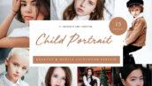 30 پریست لایت روم حرفه ای پرتره آتلیه کودک Child Portrait Lightroom Presets