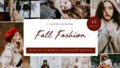30 پریست لایت روم رنگی حرفه ای پاییزی فشن Lightroom Presets Fall Fashion
