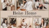 50 پریست لایت روم و پریست کمرا راو و لات رنگی Boho Home Lightroom Photoshop LUTs