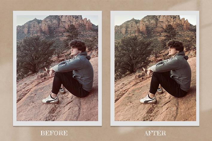 50 پریست لایت روم و پریست کمرا راو و لات رنگی Western Lightroom Photoshop LUTs
