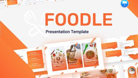 قالب پاورپوینت حرفه ای تم مواد غذایی Foodle Food Review Keynote Template