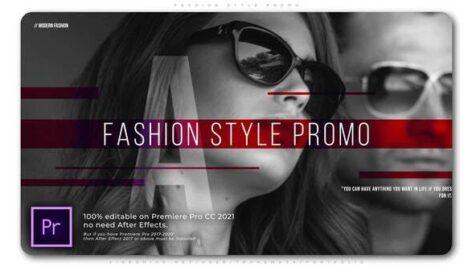 پروژه آماده پریمیر تیتراژ حرفه ای مدلینگ با موزیک Fashion Style Promo