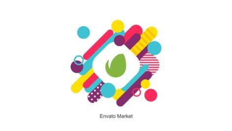 پروژه پریمیر 2021 حرفه ای لوگو افکت رنگی با موزیک Colorful Logo Reveal For Premiere