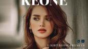 20 پریست لایت روم پرتره حرفه ای تم سینمایی Keone Lightroom Presets