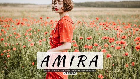 20 پریست لایت روم پرتره حرفه ای Amira Lightroom Presets