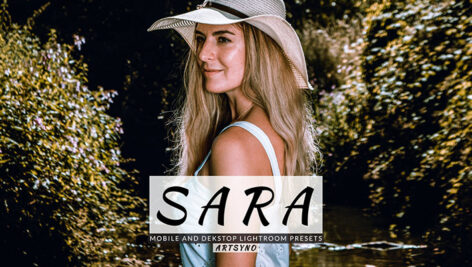 20 پریست لایت روم پرتره حرفه ای Sara Lightroom Presets