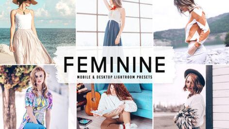40 پریست لایت روم و پریست کمرا راو و اکشن فتوشاپ Feminine Lightroom Presets