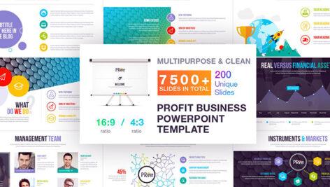 7500 قالب پاورپوینت 2021 حرفه ای پایان نامه Profit Business Template